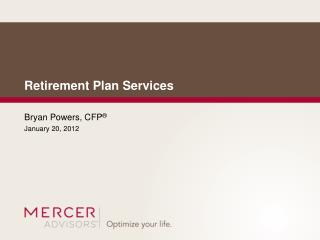 Retirement Plan Services