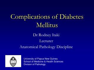Complications of Diabetes Mellitus