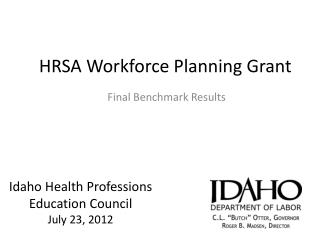 HRSA Workforce Planning Grant