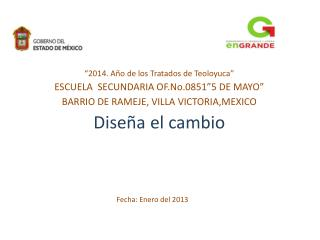 Fecha: Enero del 2013