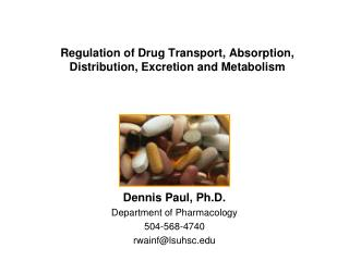 Regulation  of Drug Transport, Absorption, Distribution, Excretion and Metabolism