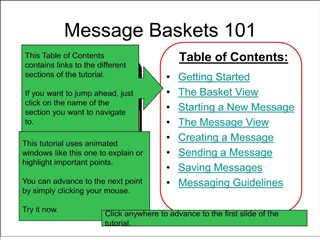 Message Baskets 101