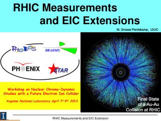 RHIC Measurements               and EIC Extensions