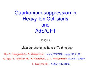 Quarkonium  suppression in Heavy Ion Collisions  and  AdS /CFT