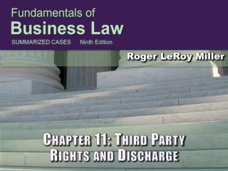 Chapter 11: Third Party Rights and Discharge