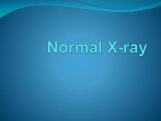 Normal X-ray