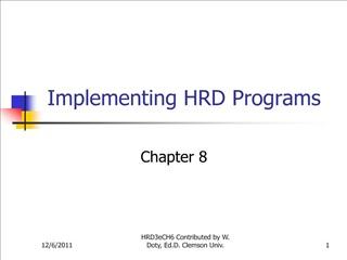 Implementing HRD Programs