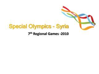 Special Olympics - Syria