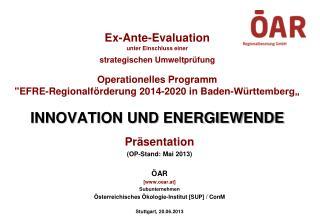 Präsentation (OP-Stand: Mai 2013) ÖAR [www.oear.at] Subunternehmen