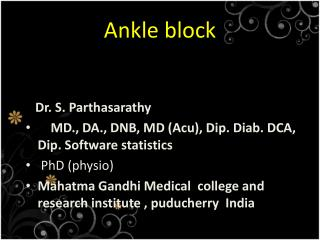 Ankle  block