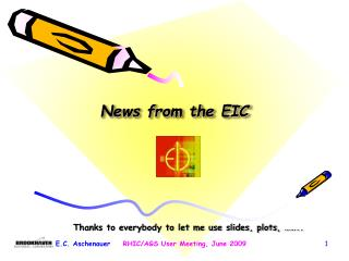 News from the EIC