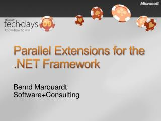 Parallel Extensions for the .NET Framework