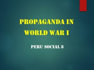 Propaganda in  World  War I