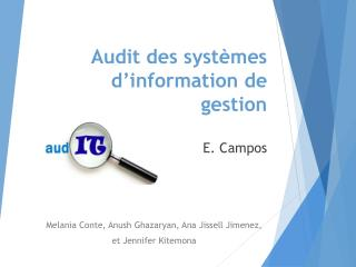 Audit des systèmes d'information de gestion E.  Campos