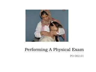 Performing A Physical Exam