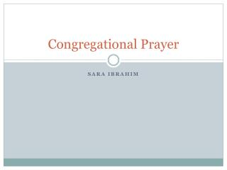 Congregational Prayer