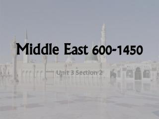 Middle East 600-1450