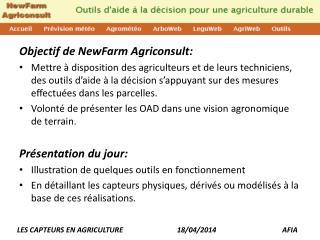 Objectif de NewFarm  Agriconsult :
