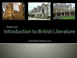 Introduction to British Literature