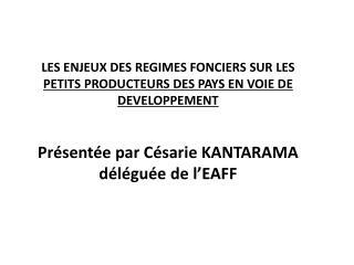 P RESENTATION DE L'EAFF