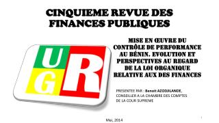 CINQUIEME REVUE DES FINANCES PUBLIQUES