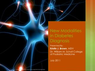 New Modalities in Diabetes Diagnosis