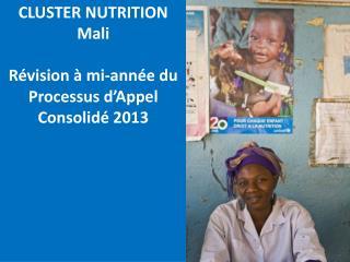 CLUSTER NUTRITION Mali Révision à mi-année du  Processus d'Appel Consolidé 2013