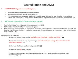 Accreditation and AMO