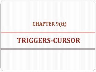 TRIGGERS-CURSOR