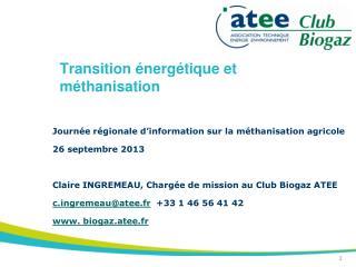 Transition énergétique et méthanisation