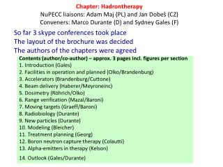Contents ( author /co- author ) –  approx . 3  pages incl .  figures  per  section