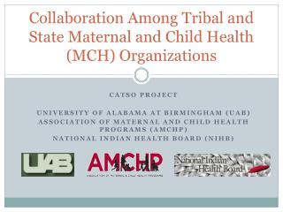 Collaboration Among Tribal and State Maternal and Child Health (MCH)  Organizations