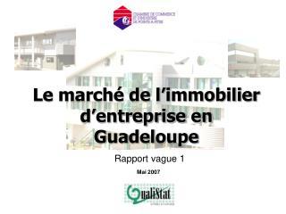 Le marché de l'immobilier d'entreprise en Guadeloupe