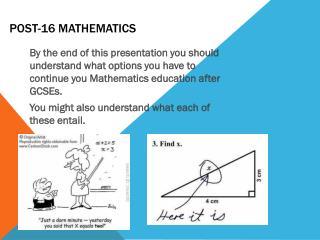 Post-16 Mathematics
