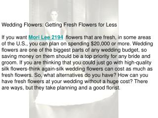 Getting Fresh Flowers for Less