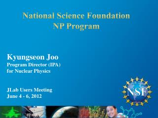 National Science Foundation NP Program