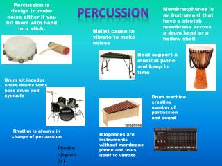 Rhythm is always in charge of percussion