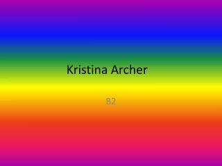 Kristina Archer
