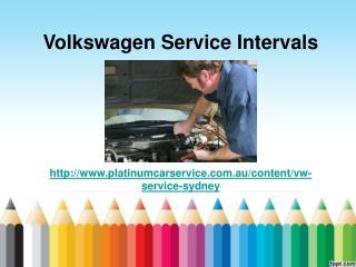Volkswagen Service Intervals