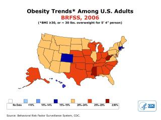 Obesity Trends* Among U.S. Adults BRFSS, 2006