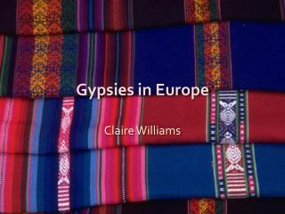 Gypsies in Europe