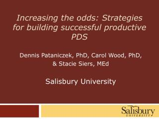 Increasing the odds: Strategies for building successful productive PDS