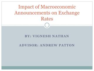 Impact of Macroeconomic Announcements on Exchange Rates