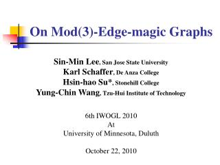On Mod(3)-Edge -magic Graphs