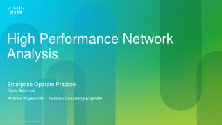 High Performance Network Analysis