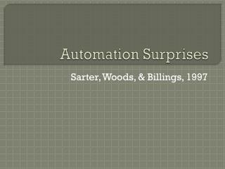 Automation Surprises