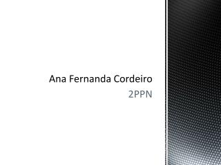 Ana Fernanda  Cordeiro