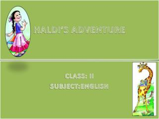 HALDI'S ADVENTURE