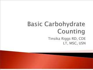Basic Carbohydrate Counting