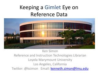 Keeping a  Gimlet  Eye on Reference Data